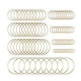 80 pezzi cornici per orecchini in acciaio inox con ciondolo geometrico a forma di cornice cava con 8 dimensioni dorate, per gioielli fai da te