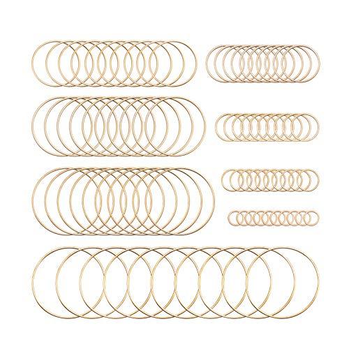 80 piezas de marcos de aretes de acero inoxidable con colgante hueco geométrico colgante...