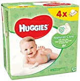 Huggies Natural Care Toallitas para Bebé - Paquetes de 4 x 56 Unidades - Total: 224 Unidades
