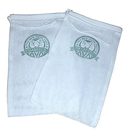 """Two One-Gallon Cold Brew Coffee Filter Pouches (2-pack) and 3 Free Recipe Books -""""Cooking with Cold Brew Coffee"""" downloadable eBooks"""