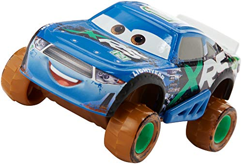 Mattel Disney Pixar Cars XRS Mud Racing Dino Draftsky Vehicle 155 Scale Die-Casts, Real Suspensions, Off-Road, Dirt-Splashed Design, All-Terrain Wheels, Ages 3 and up?