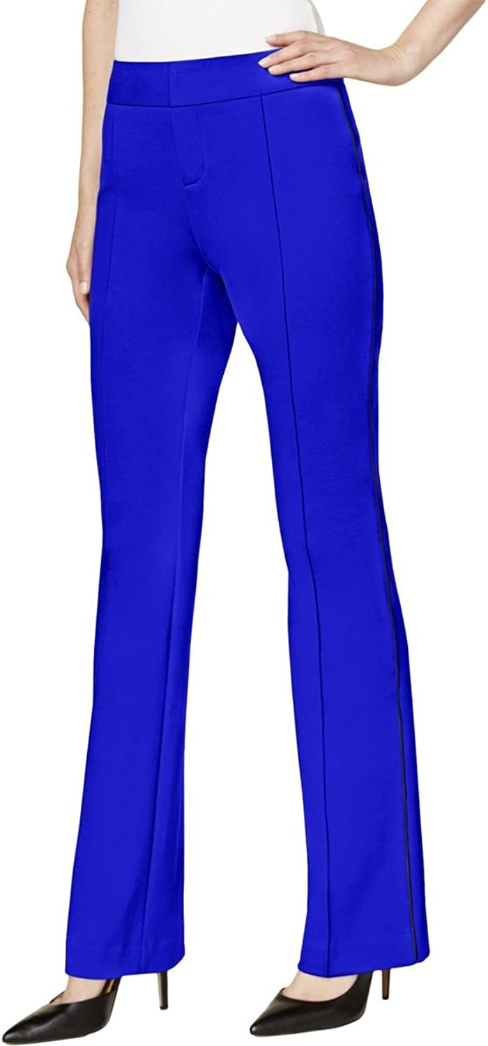 Inc Womens Curvy Fit colord Casual Pants bluee 8
