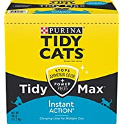 Purina Tidy Cats Clumping Cat Litter, Tidy Max Instant Action Multi Cat Litter - 38 lb. Box