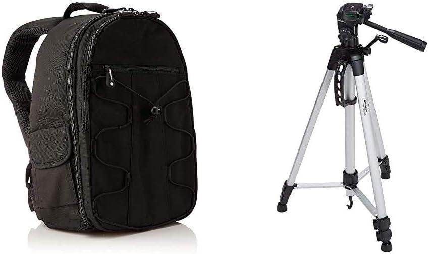 Basics Zaino per fotocamera SLR accessori con custodia Nero /& Treppiede leggero estensibile fino a 1,52 m colore