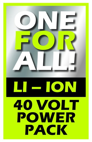 IKRA 17180929-AZ3 Kombipack Batterie & Schnelllader 40 V 2,5Ah Li-Ion Akku Ersatzakku & Schnell-Ladegerät ONE FOR ALL, schwarz