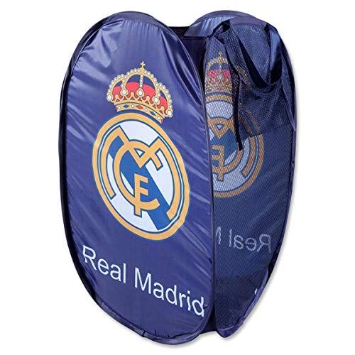 ALMACENESADAN 2289; cesto guardatodo Real Madrid, Multicolor Azul.