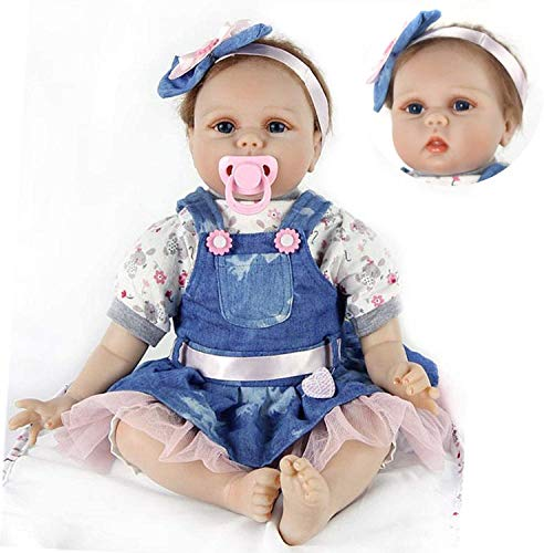 """ZIYIUI 22"""" 55 cm Realista bebe Reborn Muñeca Vinilo Suave Silicona Niña Reborn Muñecos bebé Regalo de cumpleaños"""