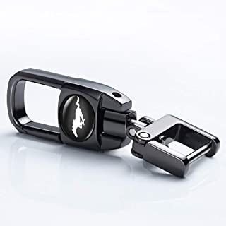 bbbb Black Car Key Chain Suit for Mustang Car Logo Key Chain Keyring for Mustang Business Gift Birthday Present for Men and Woman Styling Decoration Accessories