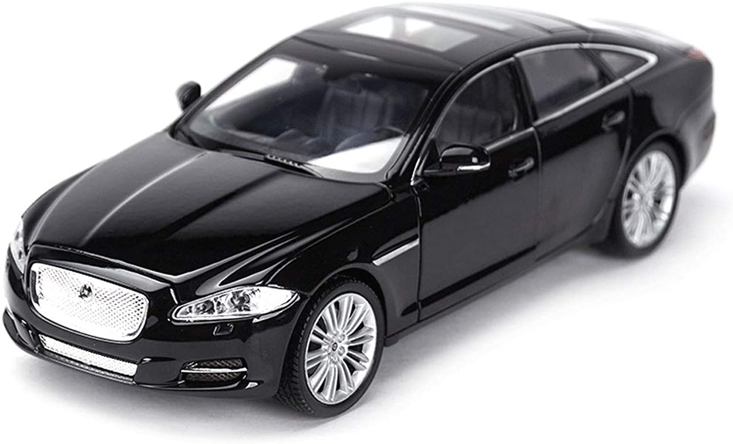 GAOQUNTOY Original 1 24 Jaguar XJ XF FType Coupe Super Running Finished Simulation Alloy Car Model (color   BLACK)
