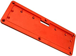 LHHZDH Aluminium cirkelsåg halsplatta flip gör-det-själv träbearbetning bordsskydd platta verktyg handverktyg