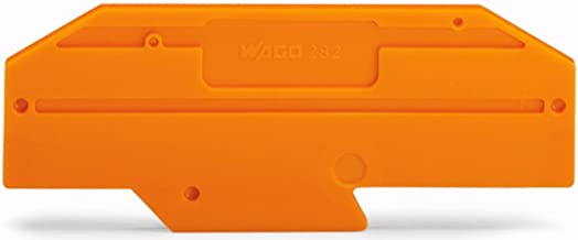 Wago, 282-333, Orange End Plate; 2 Mm Thick