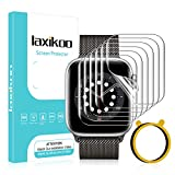 laxikoo 6 Pack Protector Pantalla para Apple Watch SE/Series 6/5/4 40mm y Apple Watch Series 3/2/1 38mm, Película de TPU Flexible Sin Burbujas Anti-arañazos Alta Definición TPU Film Protector