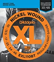 【 並行輸入品 】 D'Addario (ダダリオ) EXL110BT Nickel Wound エレキギター 弦, Balanced Tension Regular Light, 10-46