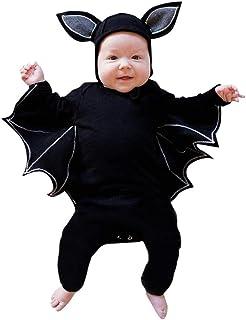Kobay Kleinkind Neugeborenes Baby Jungen Mädchen Halloween Cosplay Kostüm Fledermaus Ärmel Strampler Hut Outfits Set