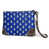 Ahdyr Modèle de drapeau du Québec en cuir porte-monnaie sacs à main d'embrayage sacs à main téléphone portefeuilles pochette de maquillage trousse de toilette sac cosmétique pour voyage