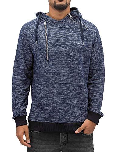 VSCT Clubwear Herren Hoodies Shiro 2 Zip Moulinee Kangool Indigo S