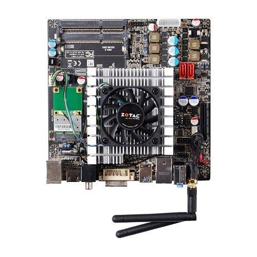 Zotac Mainboard (Intel D525, DDR2-800, Next Generation NVIDIA ION 512MB, PCIe-X16/4Lanes, WLAN, USB 3.0, HDMI, DVI-D, 90WATT PSU, Mini ITX)
