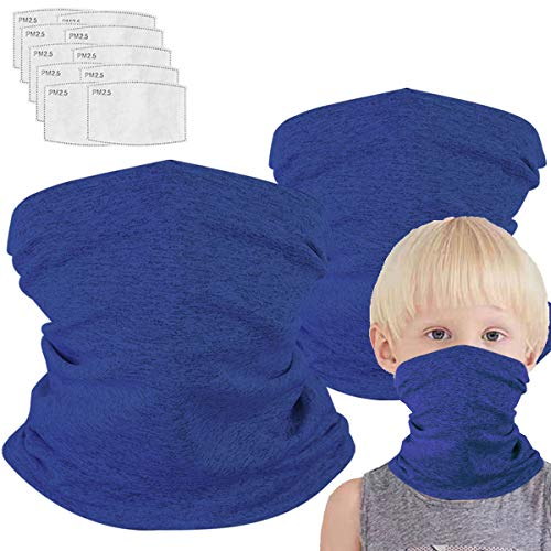 Neck Gaiter with Filters for Girl Boy, Magical Multi Funtion, Bandana,Half Face Protective Balaclava, Kids Headwear, Toddler Headgear, Infinity Scarf, Safety Cover Child Breathable Hiking Mask