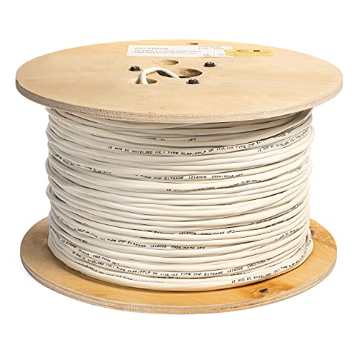 EWCS 16 AWG 2/C Str CMP Plenum Rated Shielded Sound & Security Cable - 1000 Feet - Made in USA
