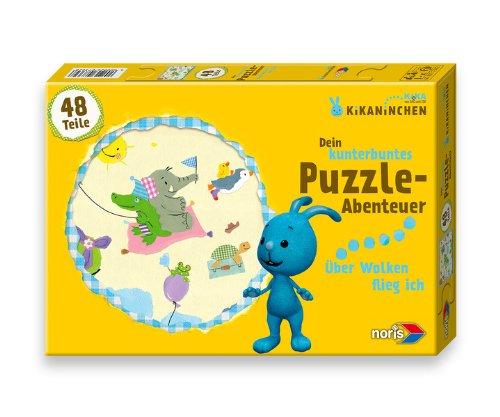 Noris 606037362 - Kikaninchen Puzzle - Über den Wolken, 48 Teile