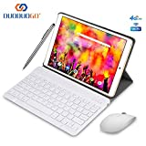 Tablette Tactile 10 Pouces 4G IPS/HD - 4Go RAM 64Go ROM Android 9.0 Tablet PC Quad Core Batterie 8000mAh Tablette 4G Double SIM Double Caméra WiFi,Bluetooth,GPS,OTG (Or)