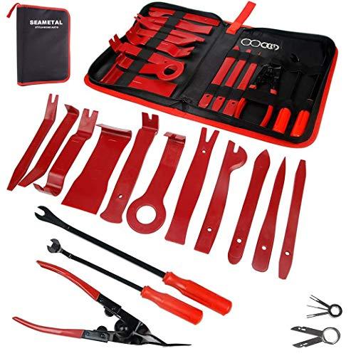 Preisvergleich Produktbild Demontage Werkzeug Auto - STYLINGCAR 19 stück Zierleistenkeile Verkleidungs Werkzeug für Innen-Verkleidung Ausbau,  Verschiede Arten von Werkzeug enthältet Starke Nylon