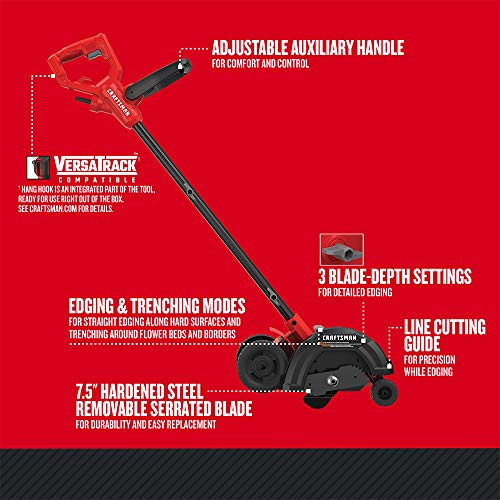 CRAFTSMAN Edger, 3-Blade Settings, 12-Amp (CMEED400)