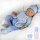 CHAREX Sleeping Reborn Baby Dolls Boy, 22 Inches Realistic Weighted Baby Dolls Soft Vinly Body, Birthday for Kids