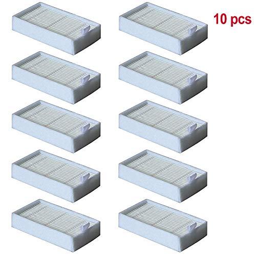 Lesai 10 Stück Ersatz Filter kompatibel Saugroboter Ersatzteile Zubehör für MD18500, MD18600, MD18501, MD16192, V3, V3S Pro, V5, V5S Pro -Hepa Filter