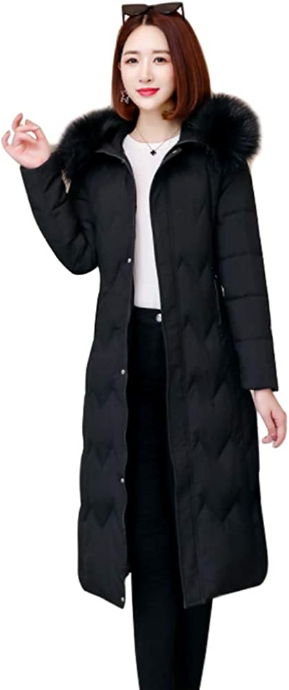 Yudesun Winter Warm Fur Trimmed Hooded Coats Down Cotton Jackets Quilted Parkas