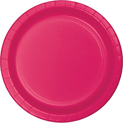 Creative Converting Touch of Color 96 Count Dinner/Large Paper Plates, Hot Magenta