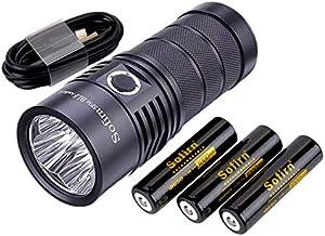 Sofirn SP36 Krachtige Zaklamp, Led ZaklampUSB C 5600 Lumen met Samsung Led Anduril Driver met 3 18650 batterij, voor het v...