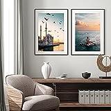 pktmbttoveuhgf Póster de Impresiones de Estambul, Turquía, Mezquita, Amanecer, Arte en Lienzo, Pintura,Torre, Foto, Dormitorio, decoración de Pared, imágenes