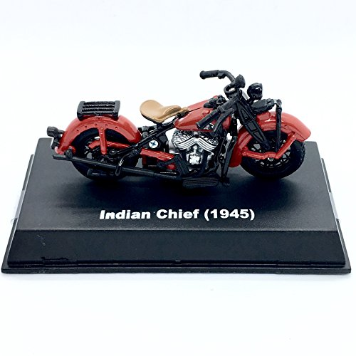 Indian 1945 Chief Motorcycle - 2018 NewRay Toys 1:32 Scale (3 Inch) Vehicle & Custom Display Base