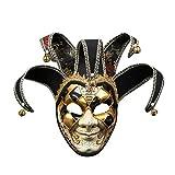 WQIANGHZI Maske Venezianisch, Venezianische Maske Gesichtsmaske Joker Karneval Fasching Maskenball Karneval
