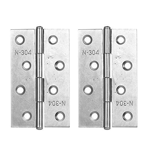 KKmoon 2 pz/set 304 Cerniere in Acciaio Inox SS Cerniere di alta Qualità per Armadi per Gioielli Cabinet e Cerniere Mobili