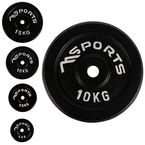 Coppia di dischi professionali per bilancieri e manubri, 100% ghisa, 5-30 kg, 2 x 10 kg – nero, allenamento di forza