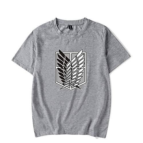 De.Pommeyeux 2021 Anime Attack on Titan Logo 100% Algodón Camiseta Mujeres/Hombres Casual Manga Corta Camiseta