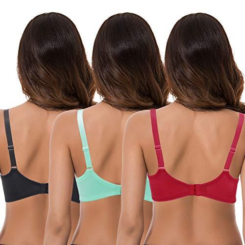 Details about  /Curve Muse Women/'s Plus Size Minimizer Unlined Underwire Full Coverage Bra