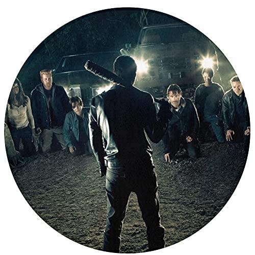 Rick Grimes Walking Dead Alfombra Circular Antideslizante Alfombra Dormitorio Sala de Estar Lavable a máquina decoración Interior Piso Lindo Cuarto de Juegos niños
