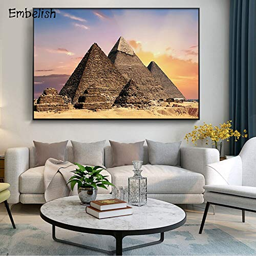 KWzEQ Canvas Painting Sunset mountain landscape pictures wall art decor homefor living room posters50x75cmFrameless painting