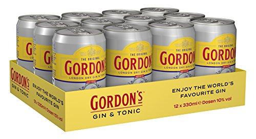 Gordon\'s London Dry Gin & Tonic Water Mix-Getränk, EINWEG (12 x 0.33 l)