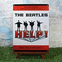 インテリア雑貨ブリキ看板THE BEATLES/ザ・ビートルズ HELP! -Nostalgic- コレクション