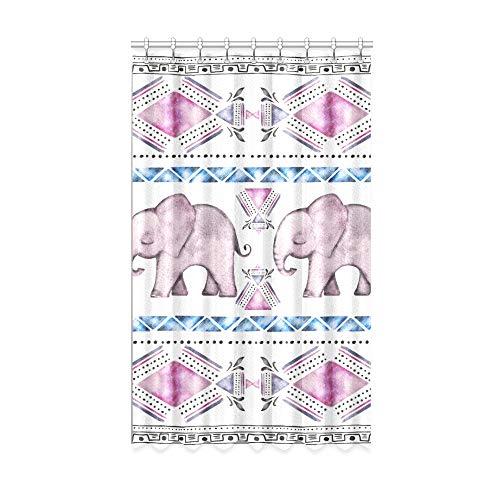NA Cortinas de Ventana para bebés Cortinas Opacas de Cocina de Elefante Indio Moderno Vintage 50 X 84 Pulgadas de una Pieza para Puerta corrediza de Vidrio para Patio/Dormitorio