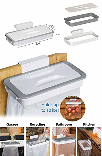 Takestop® - Soporte para bolsas de basura, gancho para cajones, puertas de muebles para poner las bolsas de basura