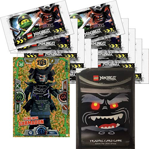 LEGO Ninjago Trading Card Game Serie 3: 10 Packungen a 5 Karten + Limitierte Bonus Karte (LE16 Gemeiner Garmadon)