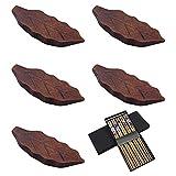 KingYH 5 Pezzi Poggia Bacchette a Forma di Foglia con Giapponese Cinesi Naturali Bacchette...