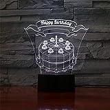 Lámpara de ilusión 3D LED luz nocturna de críquet regalos juguetes decoración pastel de cumpleaños cargador USB, bonitos juguetes regalos ideas cumpleaños vacaciones Navidad para bebé