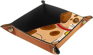 Boîte de rangement pliable en cuir PU pour table de jeu de table carrée de jeu de clé porte-monnaie de monnaie de plateau ...