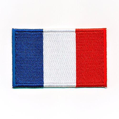 hegibaer 40 x 25 mm Frankreich Flagge Paris France Flag Lyon Aufnäher Aufbügler 0910 A